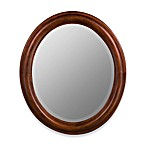 Cooper Classics Addision Oval Mirror in Cherry