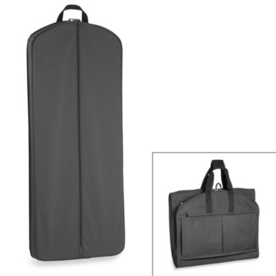 GarmenTote® 52-Inch Tri-Fold Garment Bag with Multi Pockets in Black