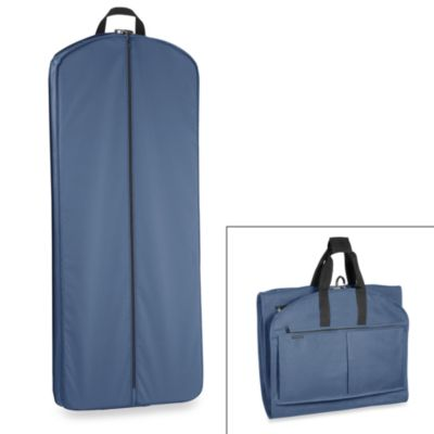 GarmenTote® 52-Inch Tri-Fold Garment Bag with Multi Pockets in Navy