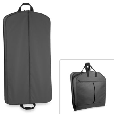 WallyBags® 40-Inch Suit Length Garment Bag w/ Pockets in Black