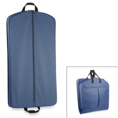 WallyBags® 40-Inch Suit Length Garment Bag w/ Pockets in Navy