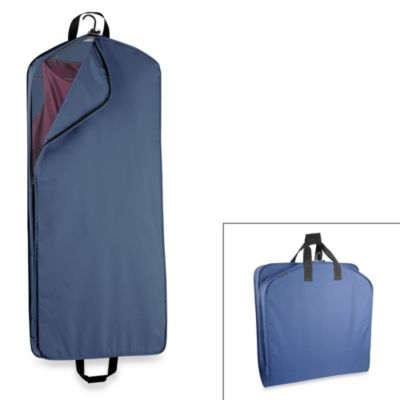 WallyBags® 52-Inch Dress Length Garment Bag with Pocket in Navy