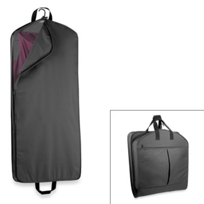WallyBags® 52-Inch Dress Length Garment Bag with Extra Capacity in Black