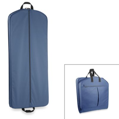 WallyBags® 52-Inch Dress Length Garment Bag with Pockets in Navy