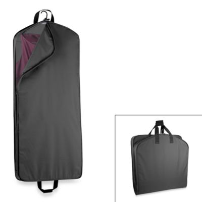 "WallyBags® 52"" Dress Length Garment Bag with Pocket - Black"