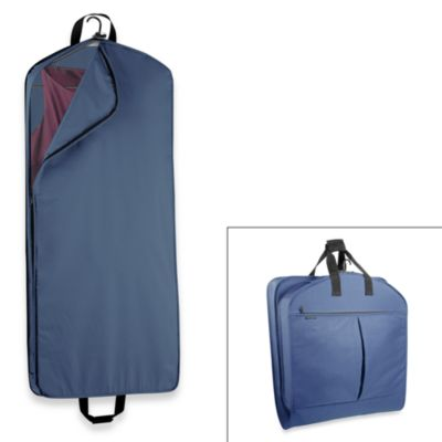 WallyBags® 52-Inch Dress Length Garment Bag with Extra Capacity in Navy
