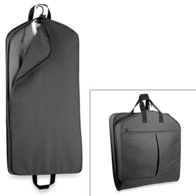 WallyBags® 45-Inch Mid Length Garment Bag with Extra Capacity in Black