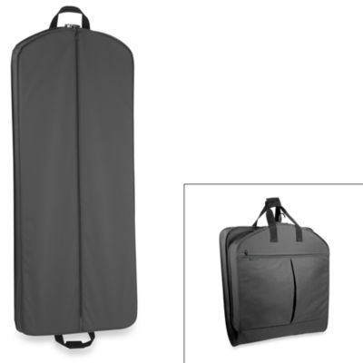 WallyBags® 52-Inch Dress Length Garment Bag with Pockets in Black