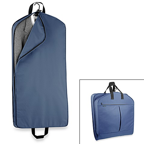 WallyBags® 45-Inch Mid Length Garment Bag with Extra Capacity in Navy