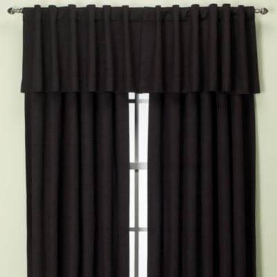 Union Square Rod Pocket/Back Tab Window Valance in Black