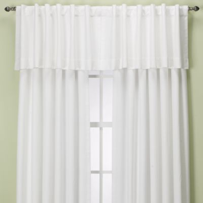 Union Square Rod Pocket/Back Tab Window Valance in White