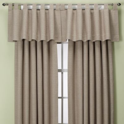 Union Square Rod Pocket/Back Tab Window Valance in Black