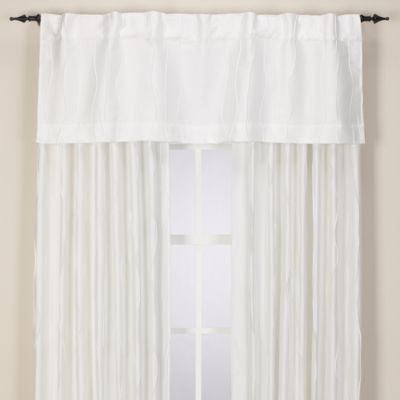 Venice Rod Pocket/Back Tab Window Valance in White