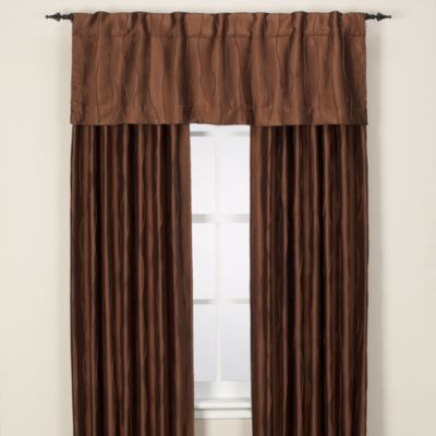 Venice 72-Inch Rod Pocket/Back Tab Window Curtain Panel in Teak