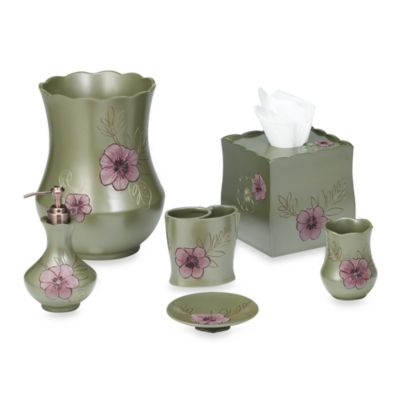 B. Smith Purple Bloom Boutique Tissue Holder