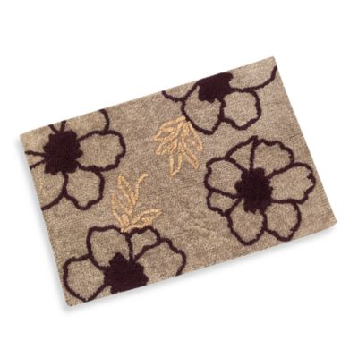 B. Smith Purple Bloom Bath Rug
