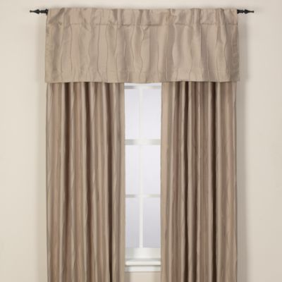 Venice 108-Inch Rod Pocket/Back Tab Window Panel in Khaki