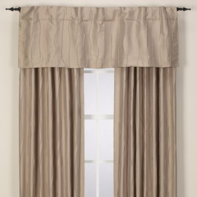 Venice Rod Pocket/Back Tab Window Valance in Blue