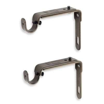 Umbra® Antique Gold 2-Piece Drapery Rod Brackets