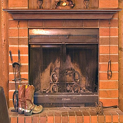 Homestead Antique Finish Fireplace Mantel Shelf