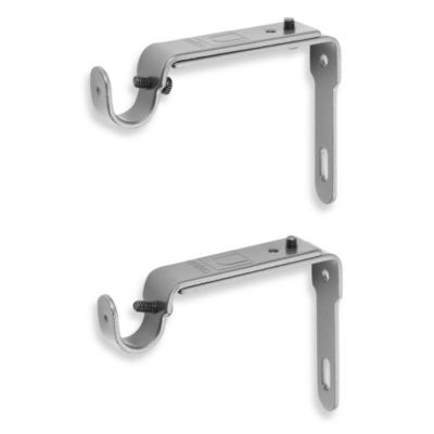 Umbra® Pewter 2-Piece Drapery Rod Brackets