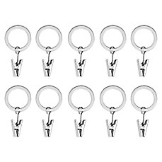 Umbra® Nickel Clip Rings (Set of 10)