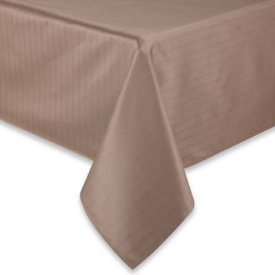 Windsor Stain Resistant  52-Inch x 70-Inch Tablecloth in Taupe