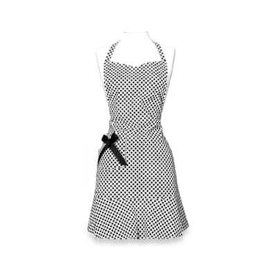 Maryanne Ivory and Black Candy Dot Hostess Apron by JS Home™
