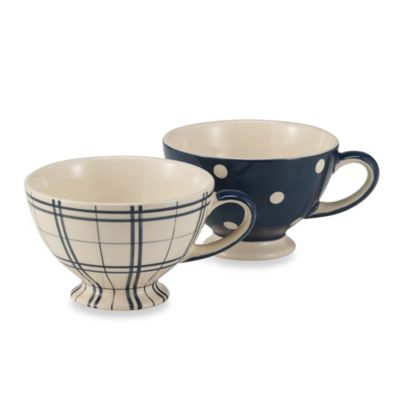 Kitchen Blue Jumbo 20-Ounce Mug (Set of 2)