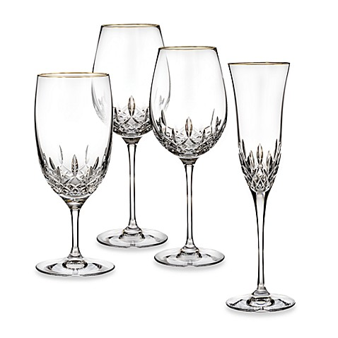 Waterford® Lismore Essence Gold Crystal Stemware