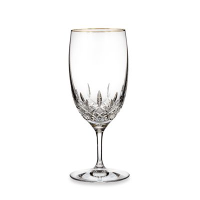 Waterford® Lismore Essence Gold 19-Ounce Iced Beverage Glass