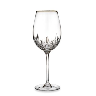 Lismore Essence Gold 14-Ounce Wine Glasses