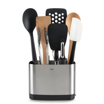 OXO Good Grips® 9-Piece Utensil Set with Stainless Steel Rectangular Crock