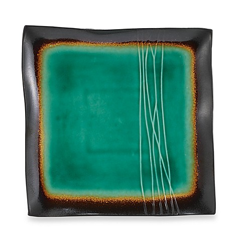 Baum Galaxy Square Platter in Jade