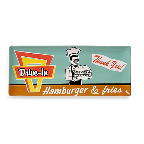 Burgers To Go 16-Inch Oblong Platter