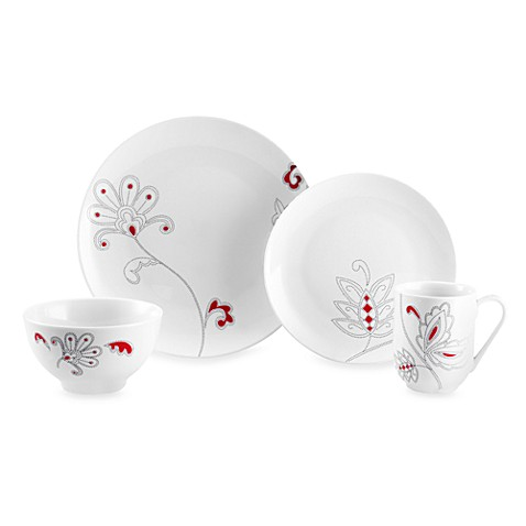 Mikasa® Gourmet Basics Chantel Red 16-Piece Dinnerware Set