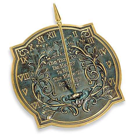 Rome Industries®  Happiness Sundial in Brass