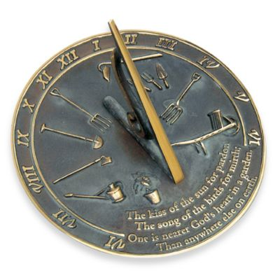 Rome Industries® The Kiss of the Sun Sundial in Brass