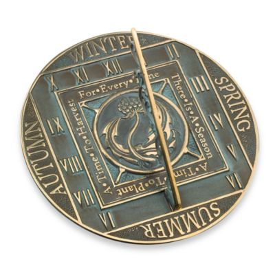 Rome Industries® Seasons Sundial in Brass