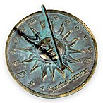 Rome Industries®  Sunrise Sunset Sundial in Brass