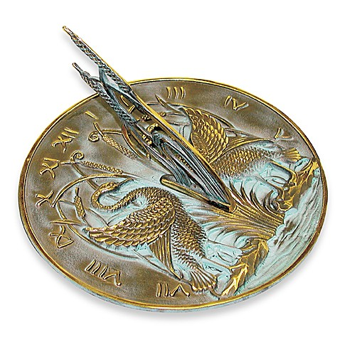 Rome Industries®  Swan Sundial in Bronze
