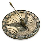 Rome Industries®  Dove of Peace Sundial in Bronze