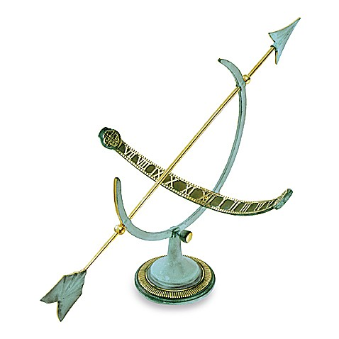 Rome Industries®  Verdigris Armillary Sundial in Brass