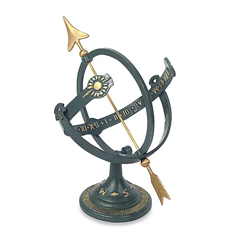 Rome Industries®  Armillary Sundial with Brass Arrow in Cast Iron