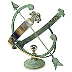 Rome Industries®  Armillary Sundial with Verdigris Highlights in Solid Brass