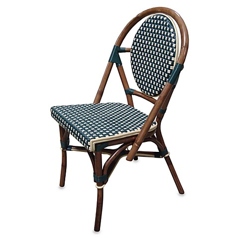 Paris Bistro Chairs Green and Ivory Set of 2 Bed