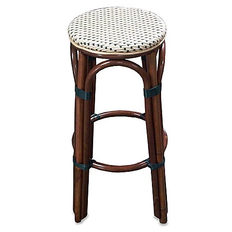 Paris Bistro Barstool in Ivory and Green