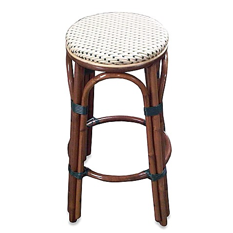 Paris Bistro Counter Stool - Ivory and Green