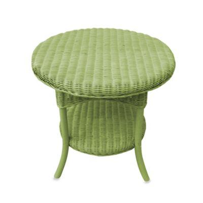 Buy Wicker Umbrella Side Table In Bronze From Bed Bath