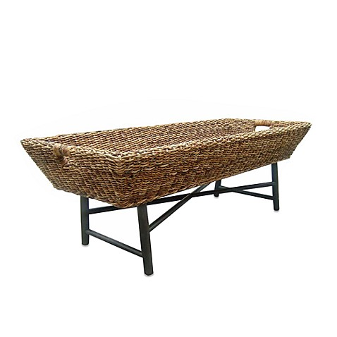 Basket coffee table bed bath beyond Coffee table baskets